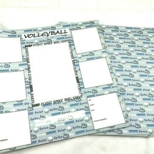 12 x 12 Volleyball Scrapbook Paper Acid Lignin